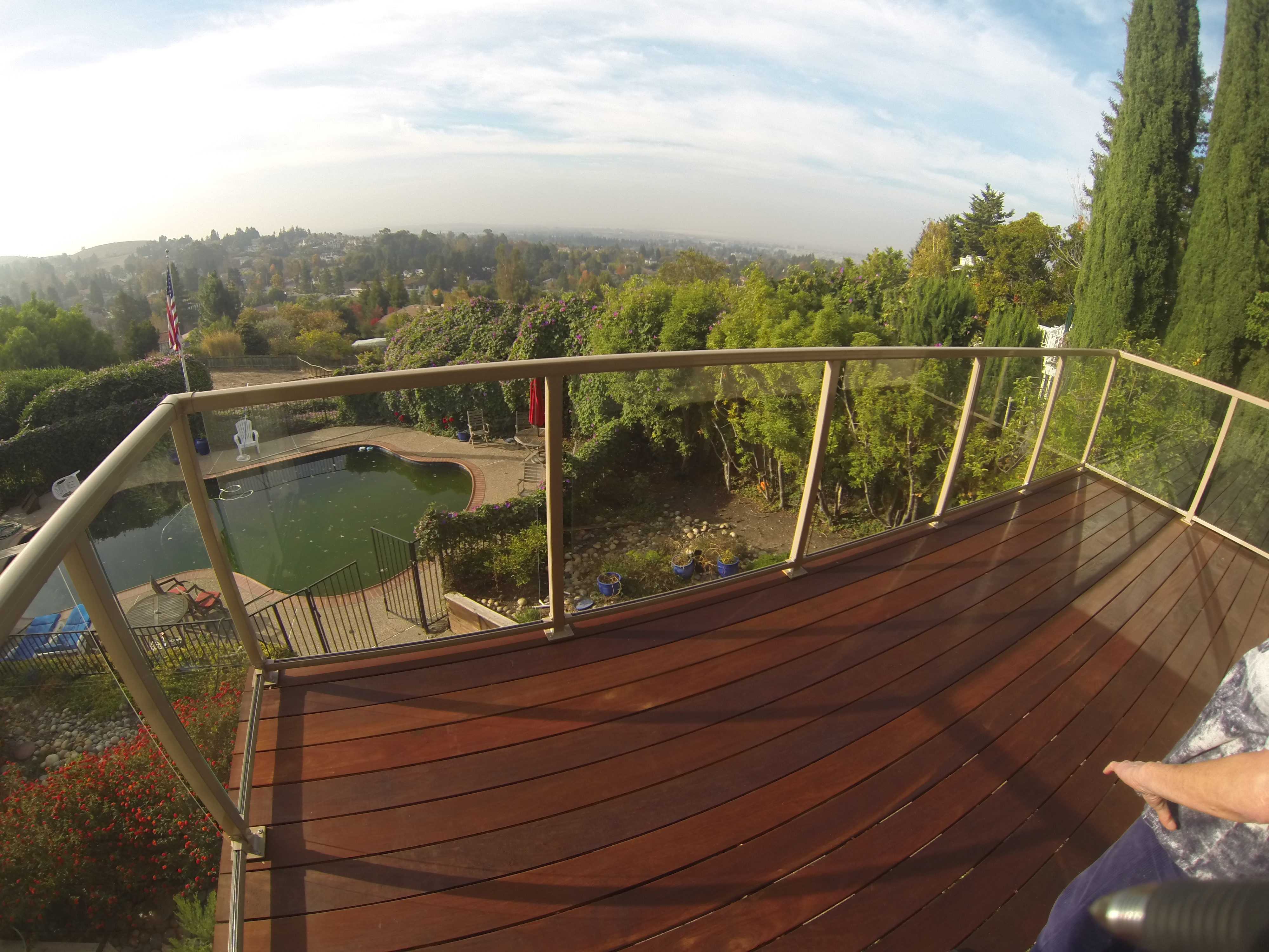 Glass railings for decks - Glass Aluminum Railing San Francisco Bay Area